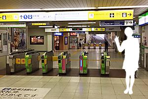 01:京成高砂駅の改札
