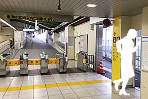 02:金町線の改札